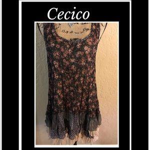 CECICO Women Tank Dress Size Large